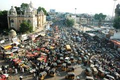 Tráfico en la India Fotografía de archivo libre de regalías