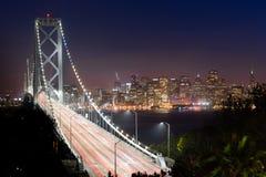 Tráfico San Francisco Transportation de la hora punta del puente de la bahía Fotografía de archivo libre de regalías