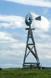 trägammal windmill Arkivfoto