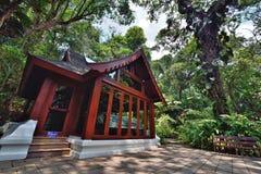 Trähus i Royal Palace, Chiangmai Royaltyfri Foto