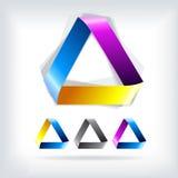 Triángulo abstracto de la plantilla del logotipo del vector Imágenes de archivo libres de regalías