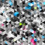 Triángulo abstracto del grunge inconsútil stock de ilustración
