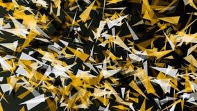 Triángulo abstracto en color amarillo y blanco almacen de video
