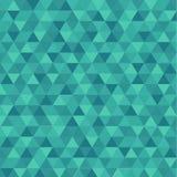 Triángulo abstracto en fondo verde ilustración del vector