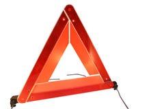 Triángulo amonestador del peligro del camino Fotos de archivo