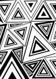 Triángulo blanco y negro stock de ilustración