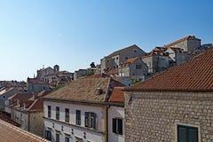 Triángulo 3, ciudad vieja de Dubrovnik, Croacia del tejado imágenes de archivo libres de regalías