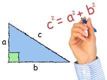 Triángulo de ángulo recto. Fotos de archivo libres de regalías