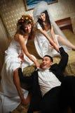 Triángulo de amor Fotografía de archivo libre de regalías
