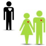 Triángulo de amor Foto de archivo libre de regalías