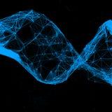 Triángulo de la DNA en negro Imagen de archivo libre de regalías
