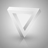 Triángulo de la ilusión óptica Foto de archivo