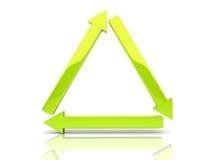 Triángulo de las flechas Imágenes de archivo libres de regalías