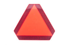 Triángulo de movimiento lento del vehículo Imagen de archivo libre de regalías