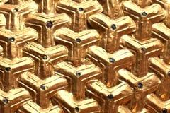 Triángulo de oro con poca gema Imagen de archivo libre de regalías