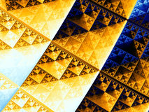 Triángulo de Sierpinski Imagen de archivo