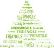 Triángulo de triángulos Imagenes de archivo