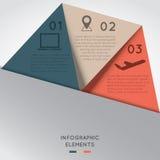 Triángulo del color de los elementos de Infographic Imagen de archivo libre de regalías