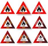 Triángulo del fuego - diagrama de seguridad Imagen de archivo libre de regalías