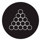 Triángulo del icono de las bolas del billar/de piscina Foto de archivo libre de regalías
