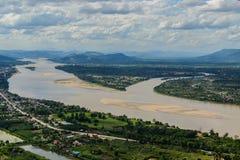 Triángulo el río Mekong Foto de archivo libre de regalías