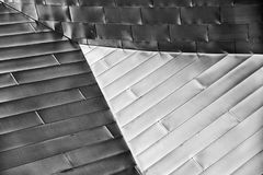 Triángulo en extracto arquitectónico moderno Fotografía de archivo