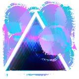 Triángulo, manchas blancas /negras coloreadas Imagen de archivo libre de regalías