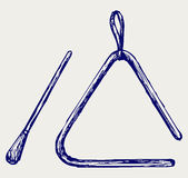 Triángulo musical Imagen de archivo libre de regalías