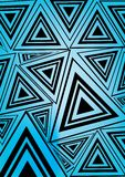 Triángulo negro y azul ilustración del vector