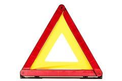 Triángulo rojo Foto de archivo libre de regalías