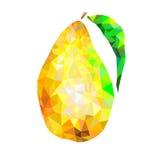 Triángulos abstractos de la pera en un fondo blanco stock de ilustración