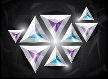 Diseño web abstracto de los triángulos Foto de archivo libre de regalías