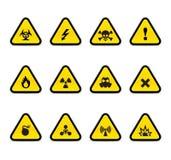 Triángulos alertas Fotografía de archivo libre de regalías