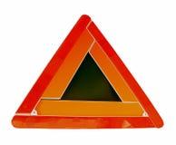 Triángulos amonestadores fotos de archivo