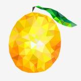 Triángulos anaranjados abstractos aislados en el fondo blanco Imagen de archivo libre de regalías