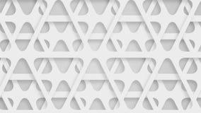 Triángulos blancos perforados móviles, lazo metrajes