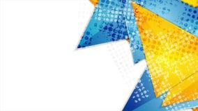 Triángulos brillantes con la animación video del extracto del tono medio del grunge libre illustration
