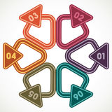 Triángulos creativos con el lugar para su propio texto Fotografía de archivo libre de regalías
