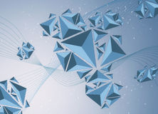 triángulos 3D Imagen de archivo