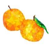 Triángulos de las mandarinas Aislado en el fondo blanco Fotografía de archivo libre de regalías