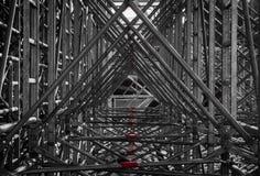 Triángulos del andamio imágenes de archivo libres de regalías