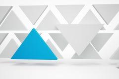 Triángulos del azul de Abstrakt Fotos de archivo libres de regalías