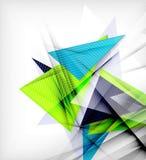 Triángulos del color, fondo abstracto inusual Fotos de archivo libres de regalías
