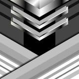 Triángulos del fondo grises Imagen de archivo