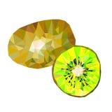 Triángulos del kiwi stock de ilustración