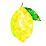 Triángulos del limón stock de ilustración