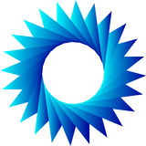 Triángulos en cyrcle Fotos de archivo libres de regalías