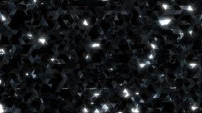 Triángulos negros reflexivos brillantes almacen de metraje de vídeo