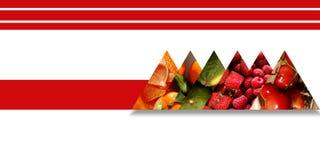 Triángulos por completo de texturas y del límite con sabor a fruta por una cinta ilustración del vector