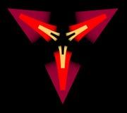 Triángulos rojos Imagen de archivo